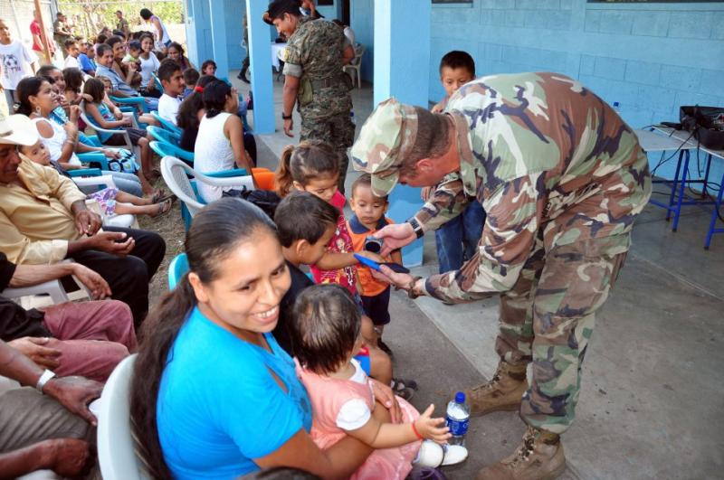 U.S. Marines and Seabees Honored in Guatemalan School