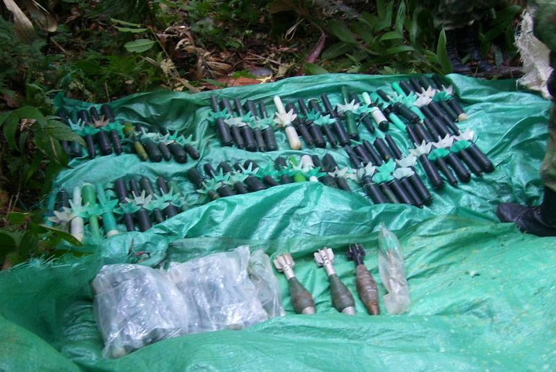 Colombian Army Seizes Six Tons of Explosives and Weapons from FARC