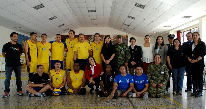 Colombian Military Personnel to Compete in International Sitting Volleyball Tournament
