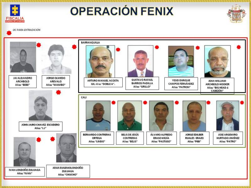 Colombia Arrests 14 Alleged Drug Traffickers Sought for Extradition by the US