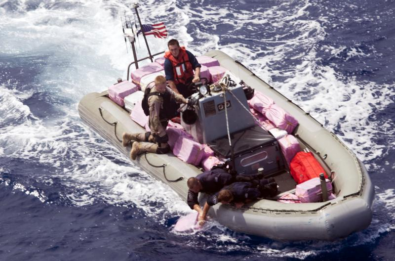 USS Elrod Recovers 4,840 Pounds of Drugs in Caribbean