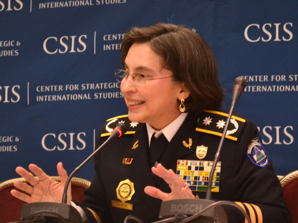 Nicaraguan Police Chief Aminta Granera Explains Success in Fighting Crime