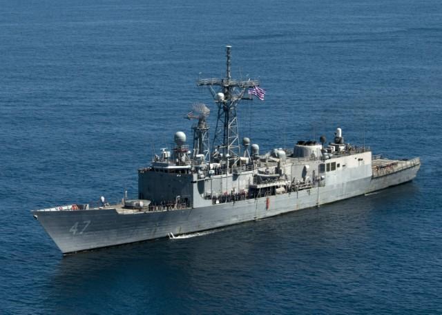 USS Nicholas, Coast Guard Team Intercept Drug Shipment Worth More Than $6 Million