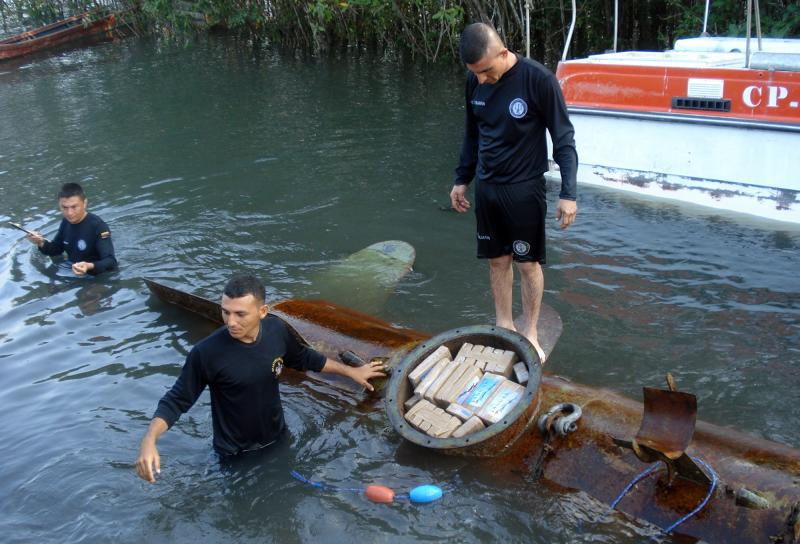 Colombian Navy Seizes a Ton of Cocaine in a Sophisticated Semi-submersible
