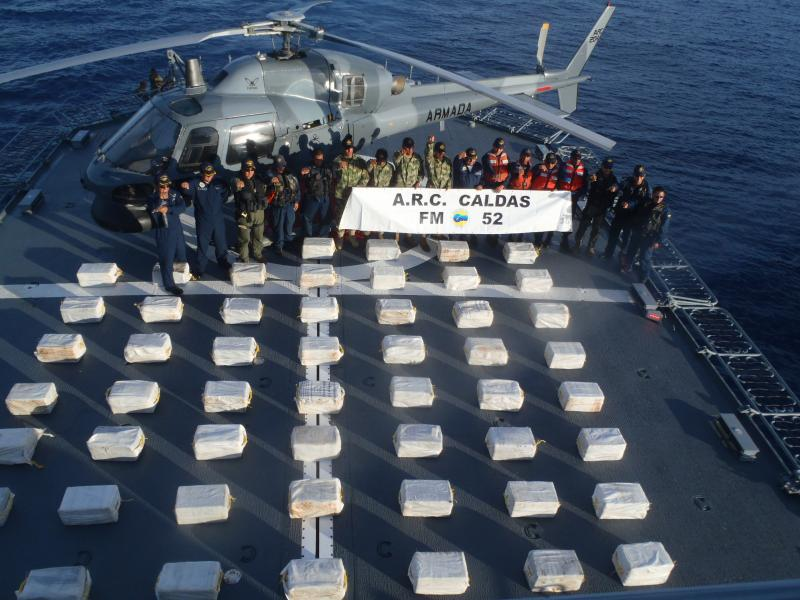 Colombia and U.S. Seize Ton of Cocaine in the Caribbean