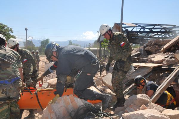 Argentinean and Chilean Chiefs of Staff Perform Disaster Cooperation Exercise