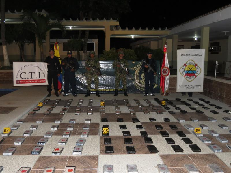 Four Hundred Kilos of Cocaine Confiscated in Colombia's La Guajira