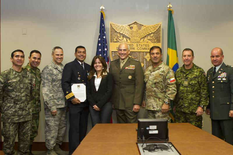 U.S. Southern Command, General Kelly Honor Departing Brazilian Marine