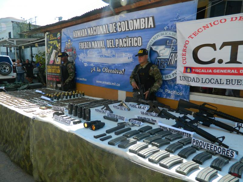 Colombian Navy Finds Weapons Arsenals