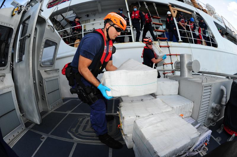 Coast Guard Interdicts $17 Million of Cocaine from Go-fast Vessel
