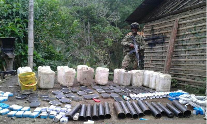 Colombian Army Destroys 10 FARC Explosives Factories