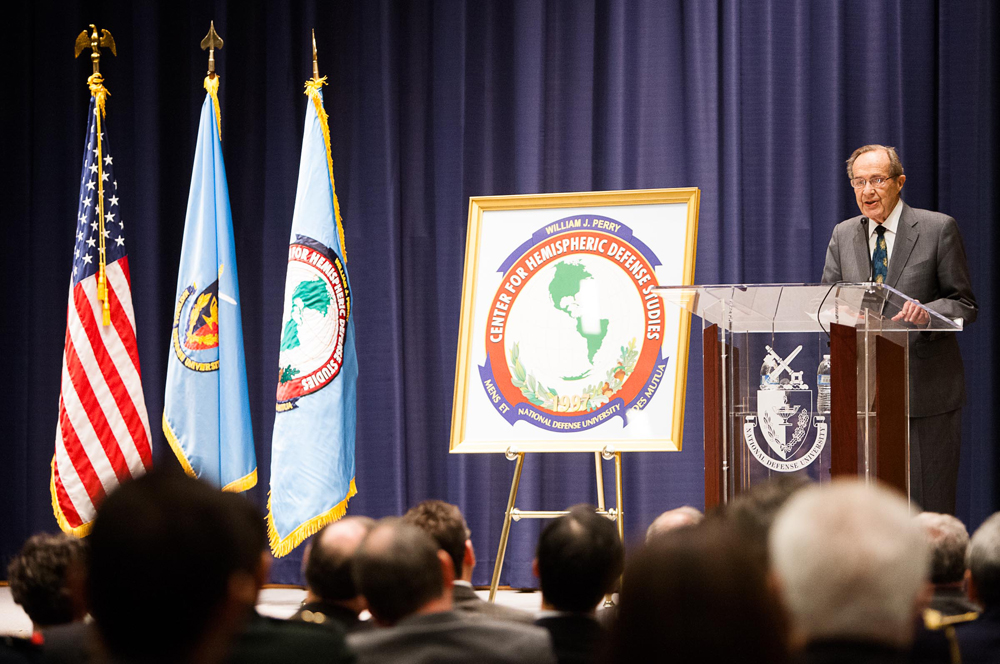 Center for Hemispheric Defense Studies is Renamed for William J. Perry