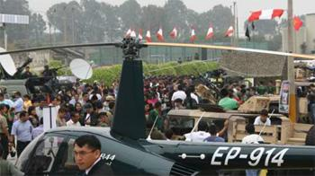 Cutting Edge Weapon Technology at International Defense Exhibition in Peru