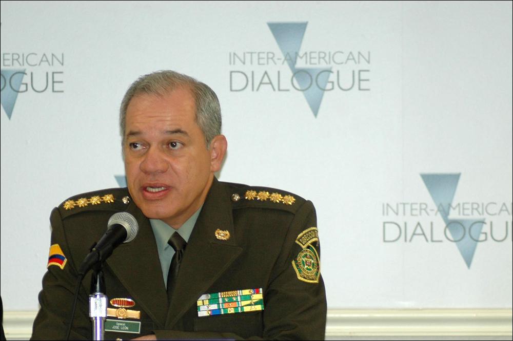 Colombian Police Chief José Roberto León Riaño Lauds Security Successes