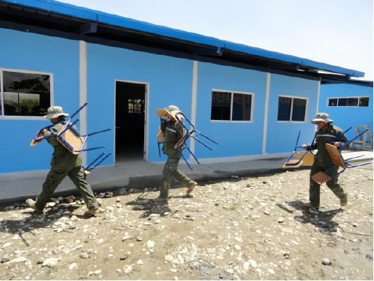 Ecuadorean Military Furnishes and Refurbishes Haitian Schools