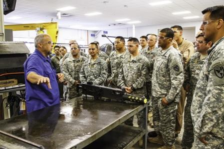 WHINSEC class learns the roots of  U.S. combat equipment