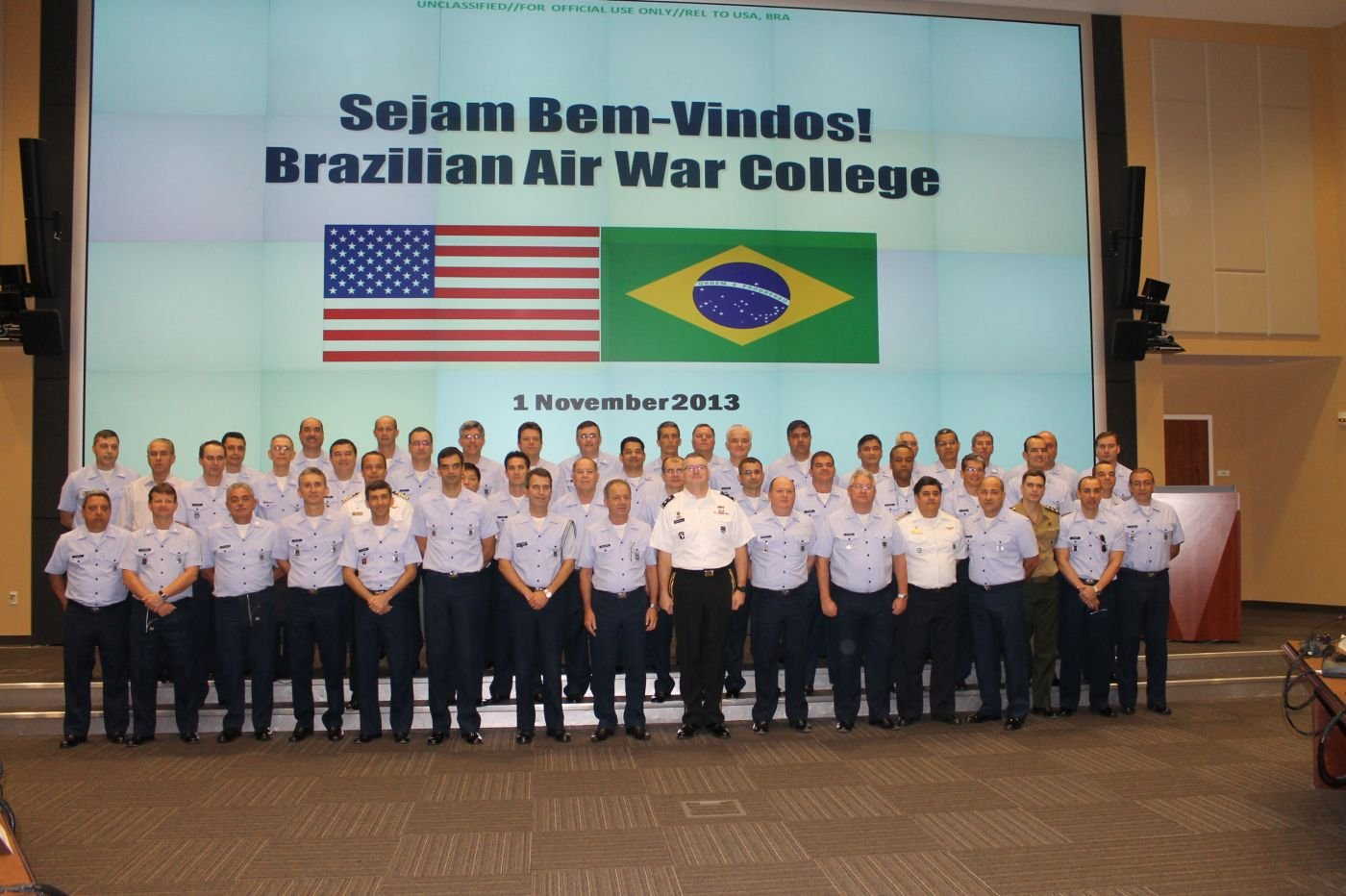 Brazilian Air Force Command Officers and General School Staff Visit SOUTHCOM