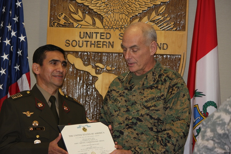 SOUTHCOM honors, bids farewell to Peruvian Liaison Officer