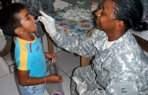 Honduran and U.S. military doctors and dentists provide care to 1,200 patients in remote villages