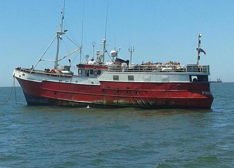 Uruguayan Navy seizes 1.4 tons of cocaine from a fishing boat