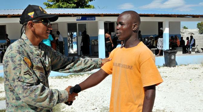 Ecuadorian military engineers help rebuild Haitian regions devastated by earthquake