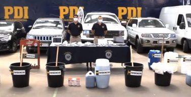 Chilean Police seize large quantity of liquid cocaine, arrest 11 suspects