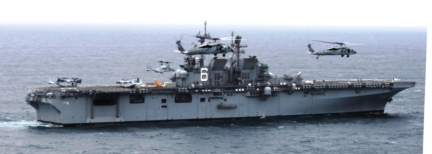 USS-AMERICA: The Newest Amphibious Assault Ship of the US Navy Visits Brazil