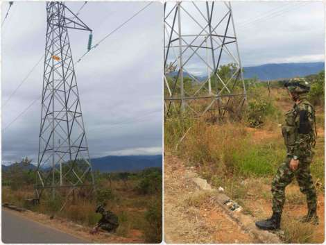 Colombian National Army protects oil infrastructure from the FARC