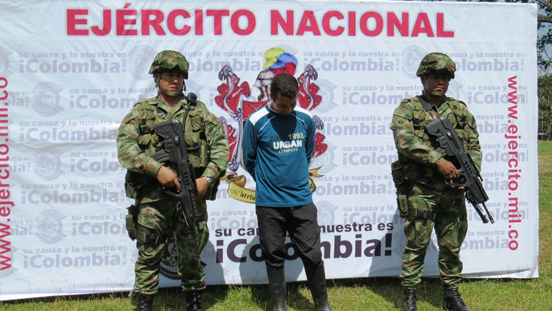 Colombian National Army captures an ELN leader 'Ernesto'