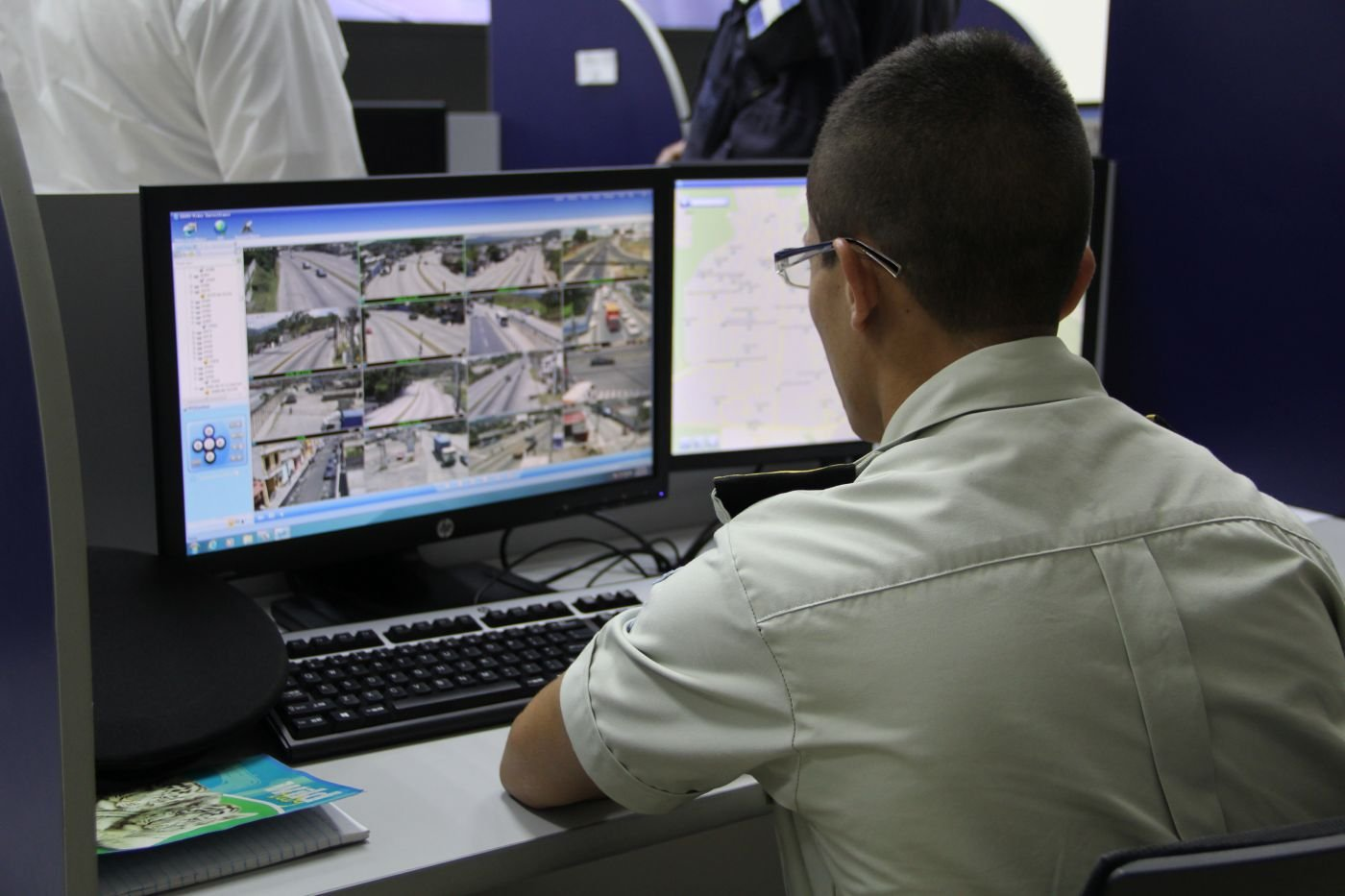 Surveillance cameras help police reduce crime in Guatemala City