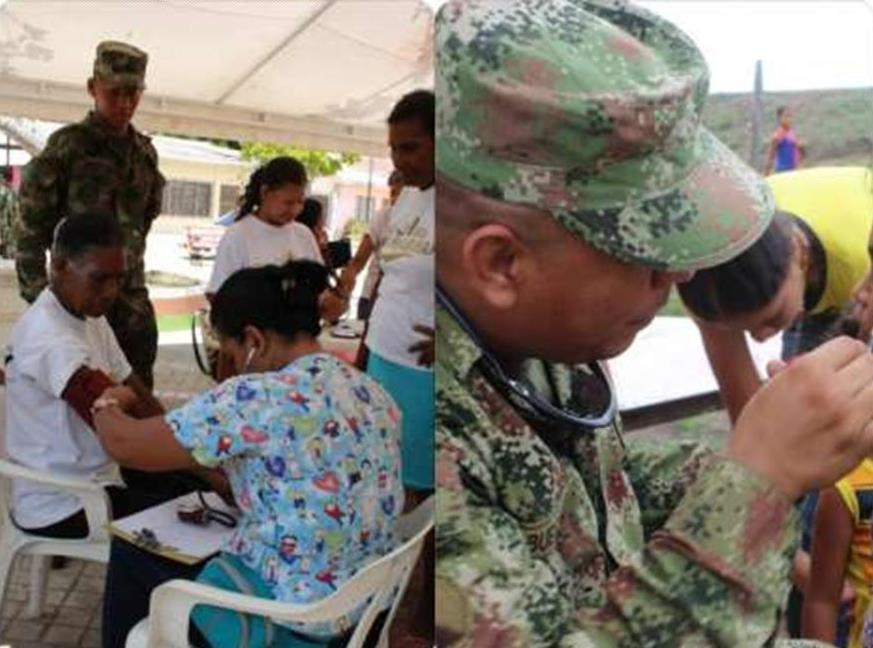 Colombian National Army provides health care to more than 800 people in La Gloria