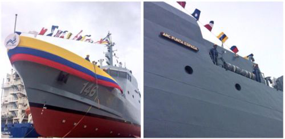 Colombian Navy launches first domestically manufactured vessel
