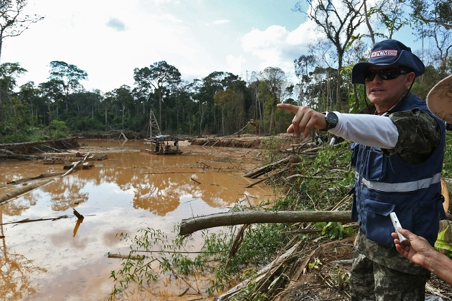 The Armed Forces of Peru and Colombia Cooperate against Illegal Mining