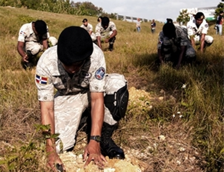 Dominican Air Force Leads Reforestation Efforts