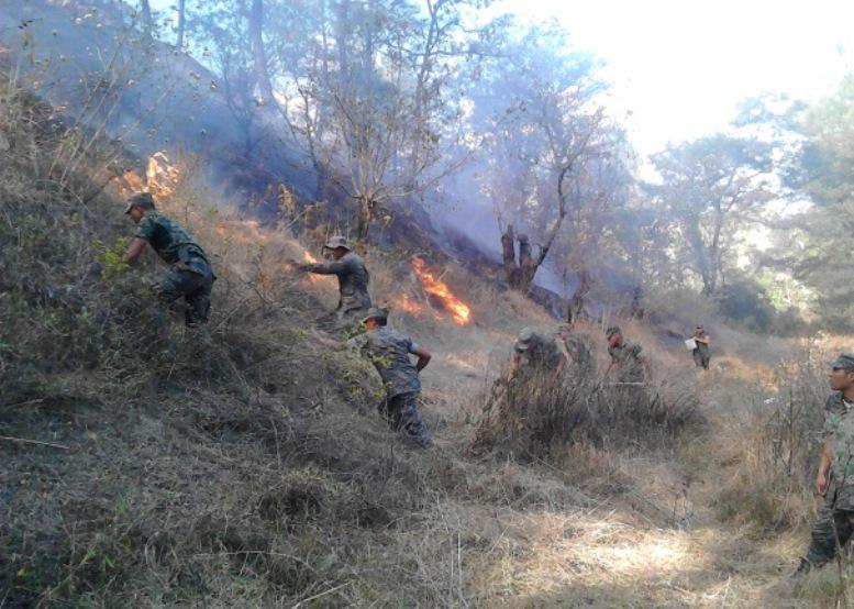 Guatemalan Defense Brigades Help Fight Forest Fires