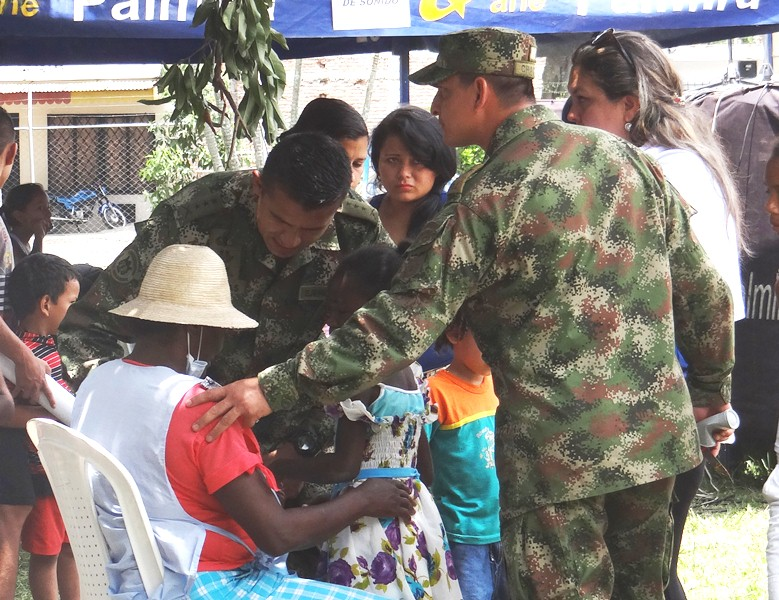 Colombian National Army Supports Nationwide Immunization Campaign