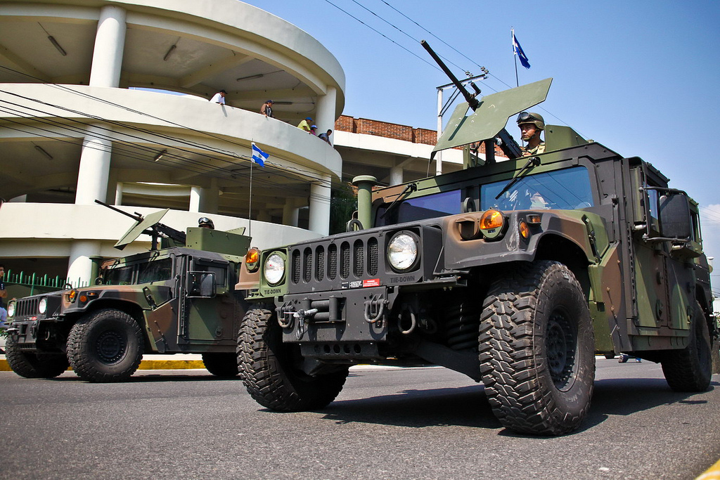 El Salvador's Army Deploys Armored Vehicles in Fight against Violent Gangs