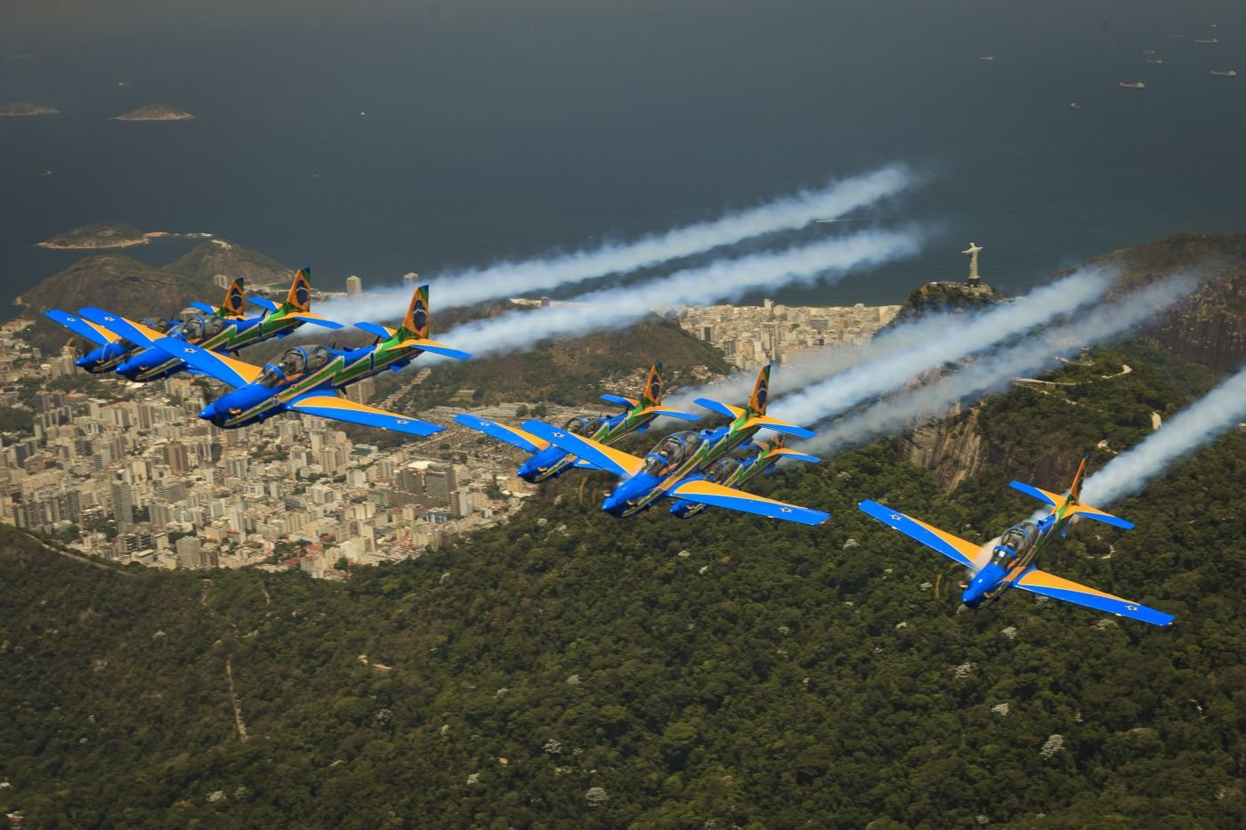 The Brazilian Air Force's Smoke Squadron Resumes Enthralling Crowds