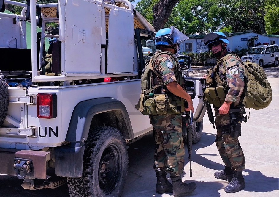 Uruguayan and Peruvian Troops Provide Security for Haitian Elections
