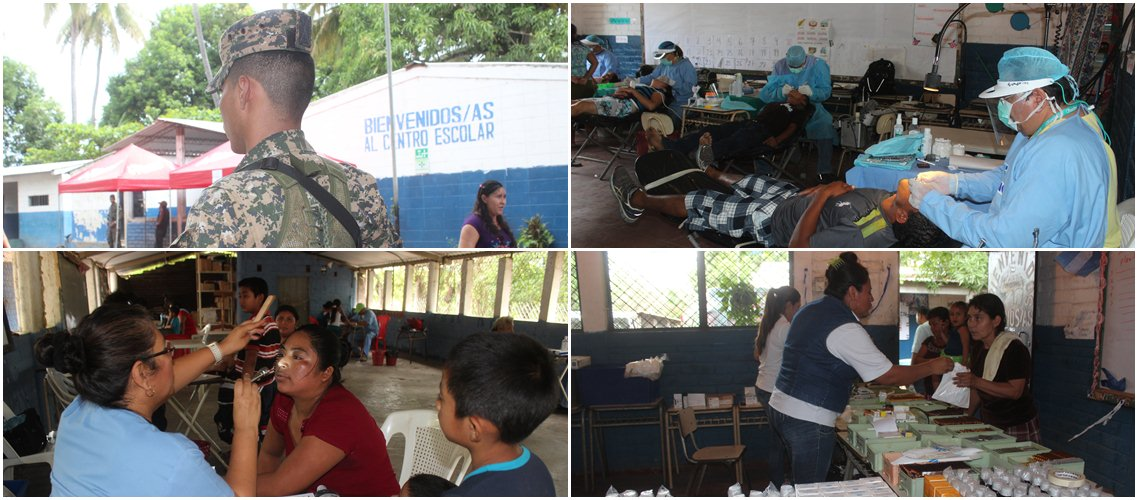 Salvadoran Armed Forces Provide Free Healthcare to Needy Residents