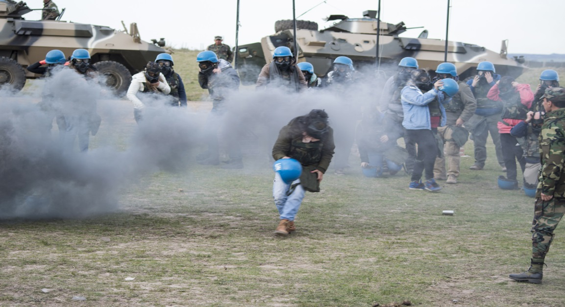 Uruguayan Military Trains Journalists Preparing to Cover Peacekeeping Missions