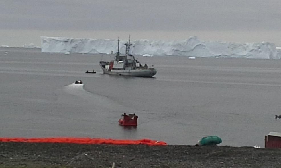 Uruguayan Naval Vessel 'Vanguardia' Fulfills Mission to Antarctic Base