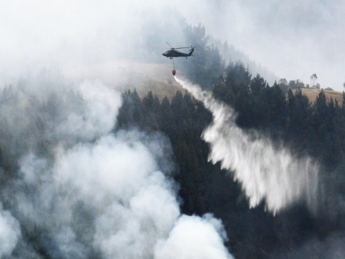 Colombian Air Force Battles El Niño Inspired Forest Fires