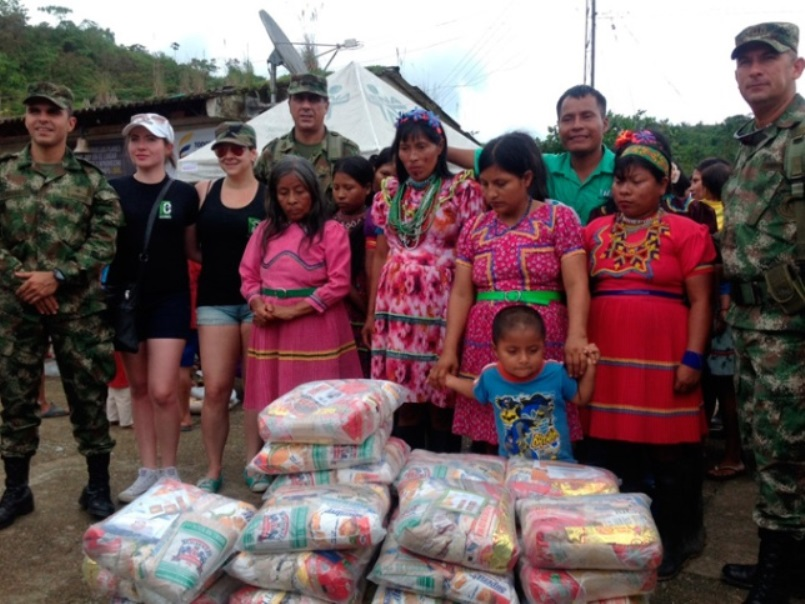Colombian National Army Promotes Healthcare in Indigenous Communities
