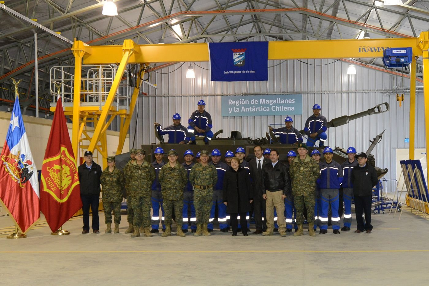 Chilean Army Factories and Armories Opens New Industrial Maintenance Center