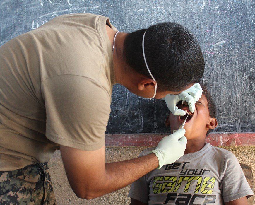 Honduran and U.S. Military Personnel Provide Medical Services in Gracias a Dios