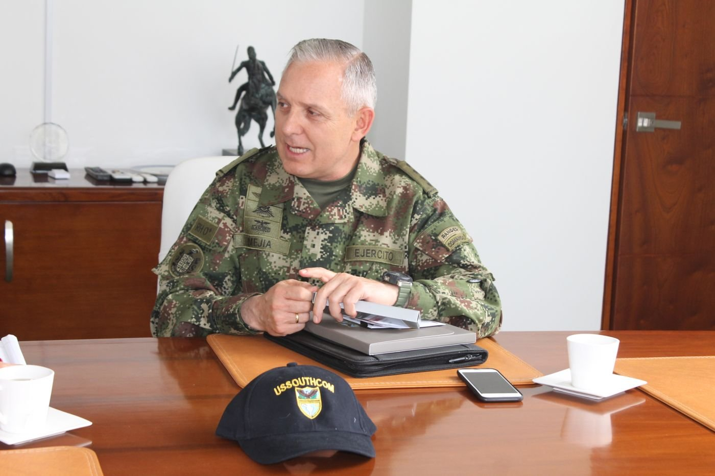 Colombian General Alberto Mejía, Commander of the Army, Works to Transform his Country's Army