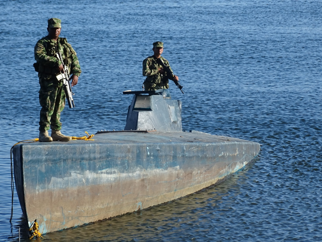 Colombian National Navy Neutralizes Another Drug-Trafficking Semi-Submersible