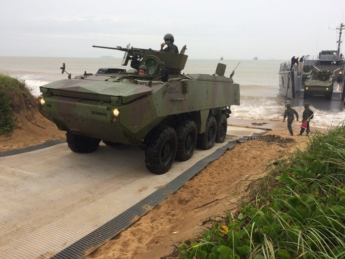 Brazilian Navy Conducts Mock Amphibious Exercise