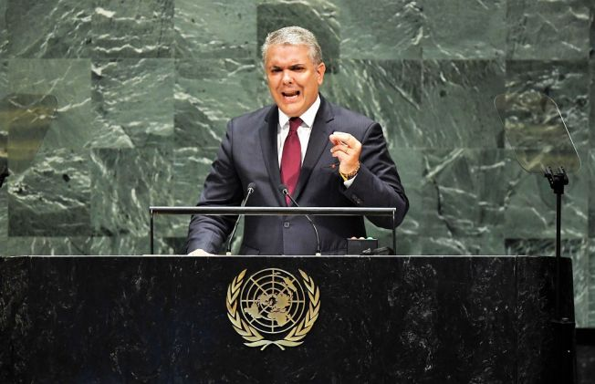 Duque at UN: Venezuelan Dictatorship 'One More Link in the Transnational Terrorism Chain'